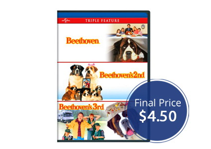 Beethoven Triple Feature DVD Set, Only $4.50!