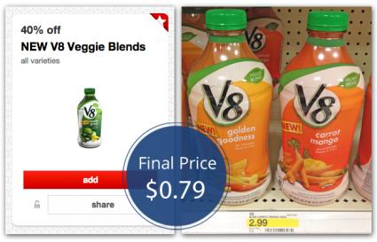 V8 Veggie Blends Target
