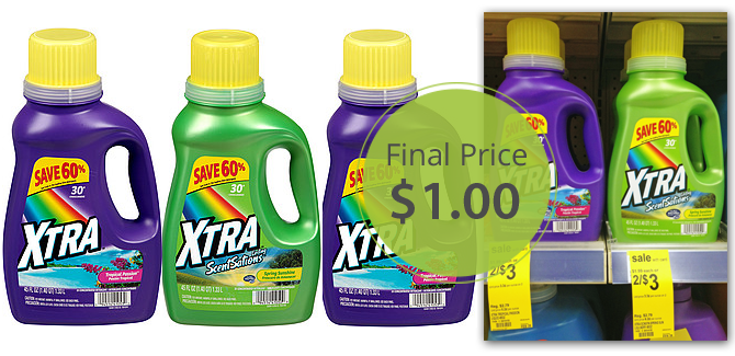 Xtra Laundry Detergent Only 1 00 At Walgreens The