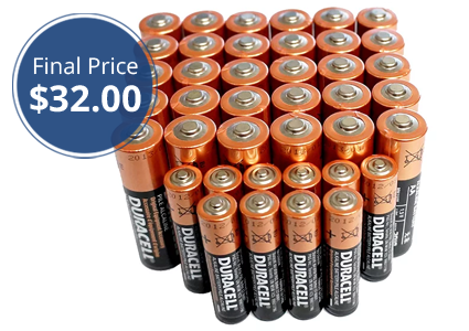 80-Pack Duracell AA & AAA Batteries, Only $32!