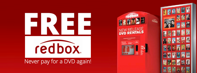 Two Free DVD Rentals from Redbox!
