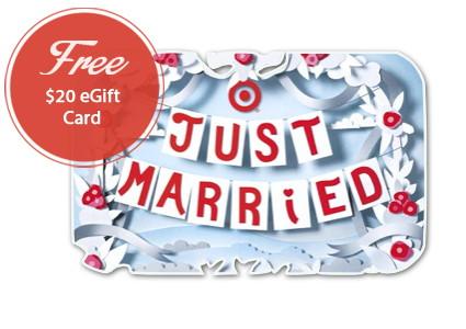 Free $20.00 Target eGift Card with Wedding Registry!