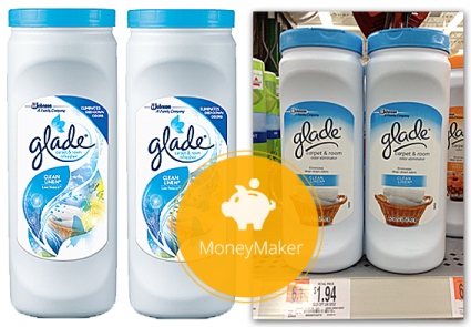 hurry and print a 200 coupon for any glade product use it at walmart and score a 006 moneymaker on a container of glade carpet freshener