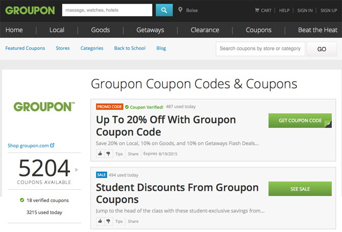 Stack Those Already Discounted Products With Coupons And Promo Codes Of Course Groupon Offers Right On Their Site Under Select Stores