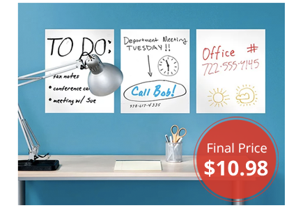 6-Pack Removable Dry Erase Sheets, Just $10.98 Shipped!