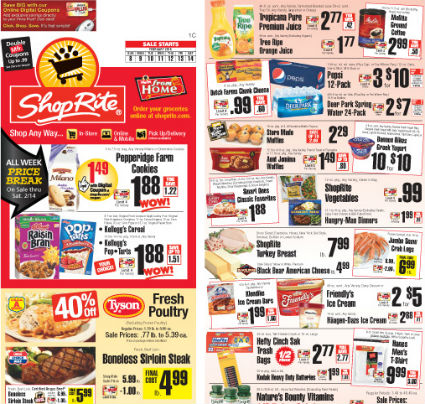 Shoprite prices change on Sunday, and we post Shoprite's updated deals list on Saturday. Shoprite's generous coupon policy doubles coupons, up to 99 cents in many markets, so that a cent coupon would be worth $ off. In some markets, coupons are doubled only up to a total of $1, so the cent coupon would be rounded up to $1.