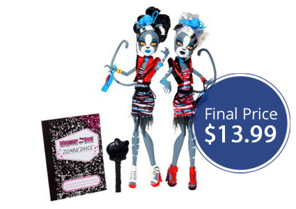 Monster High Zombie Doll: Two-Pack, Only $13.99!