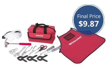 Work Pro 14-Piece Kids' Starter Tool Kit, Only $9.87!