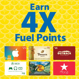 4X Fuel Points for Gift Cards