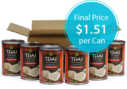 Thai Kitchen Coconut Milk thai kitchen coconut milk, only $1.51 per can shipped on amazon