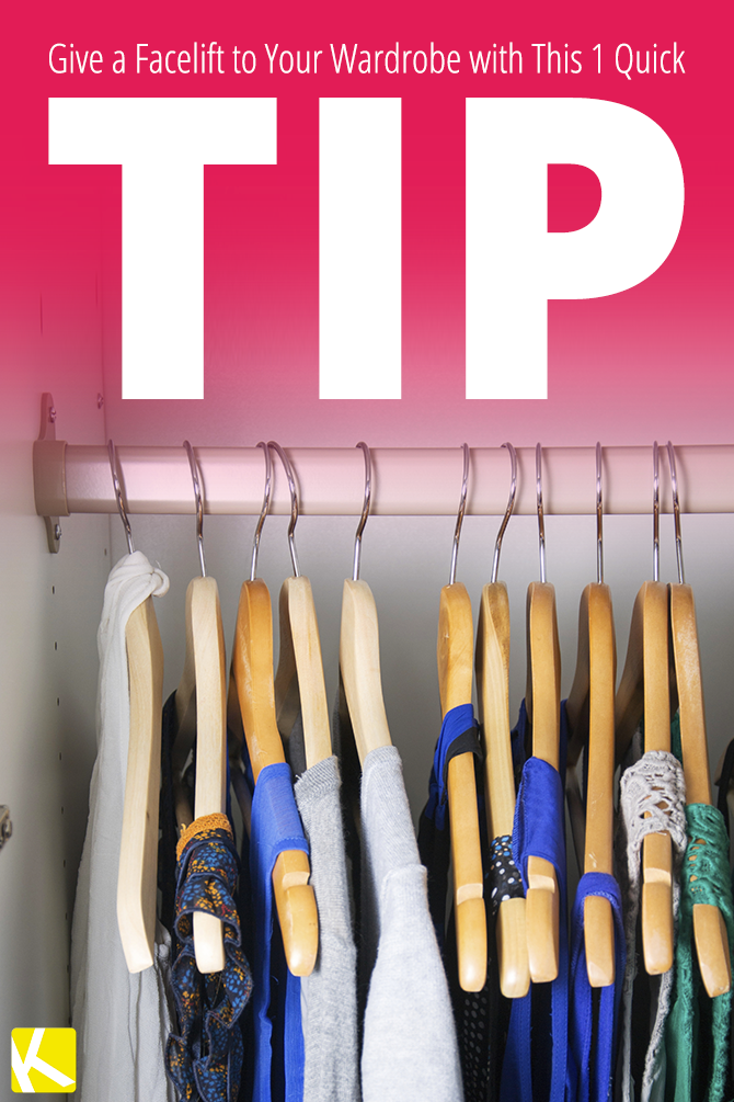 Give an Inexpensive Facelift to Your Wardrobe with This 1 Quick Tip