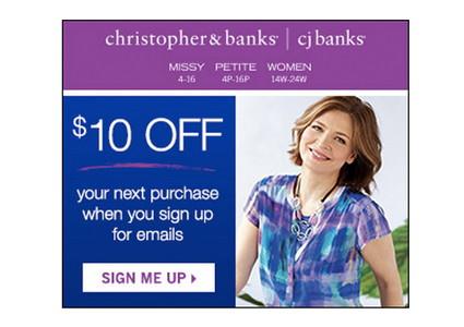 Win a Wardrobe & $10 Off at Christopher & Banks!