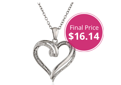 Hot! Sterling Silver Heart Necklace, as Low as $16.14 Shipped!