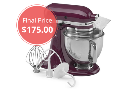 KitchenAid Artisan Stand Mixer, as Low as $175 Shipped!