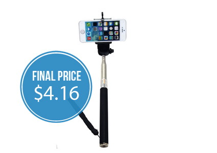 Selfie Stick, Only $4.16 Shipped–Hurry!