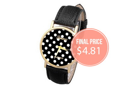 Women's Polka Dot Watch, Only $4.81!