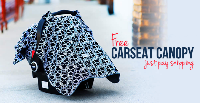 Free Carseat Cover–Over Twenty Styles Available!