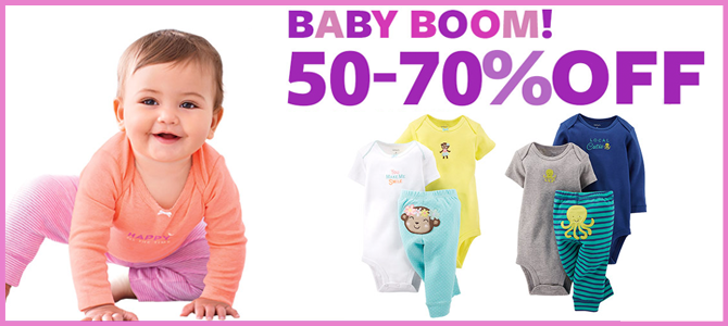 Huge Baby Clothing Sale–Save 50-70%   Extra Savings!