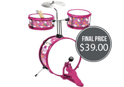 Hello Kitty Drum Set, Only $39.00–Normally $129.97!