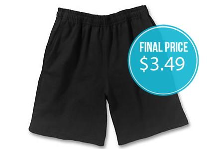 Free Shipping at Hanes Place–Jersey Shorts, Just $3.49!