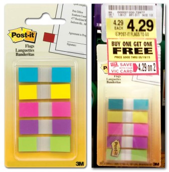 post it flags coupon