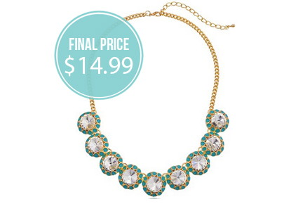 Bright Crystal Statement Necklace, 71% Off!