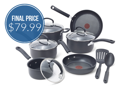 T-fal 12-Piece Cookware Set, Only $79.99 Shipped!