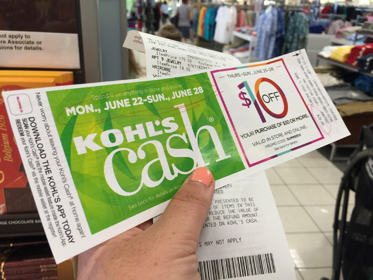 A picture of a Kohl's Cash coupon