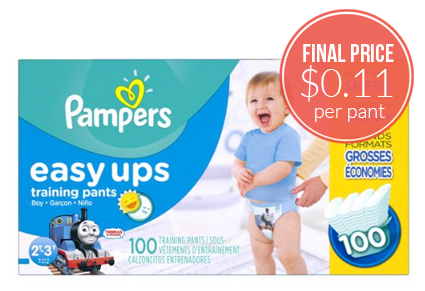 Pampers Training Pants, as Low as $0.11 Each!
