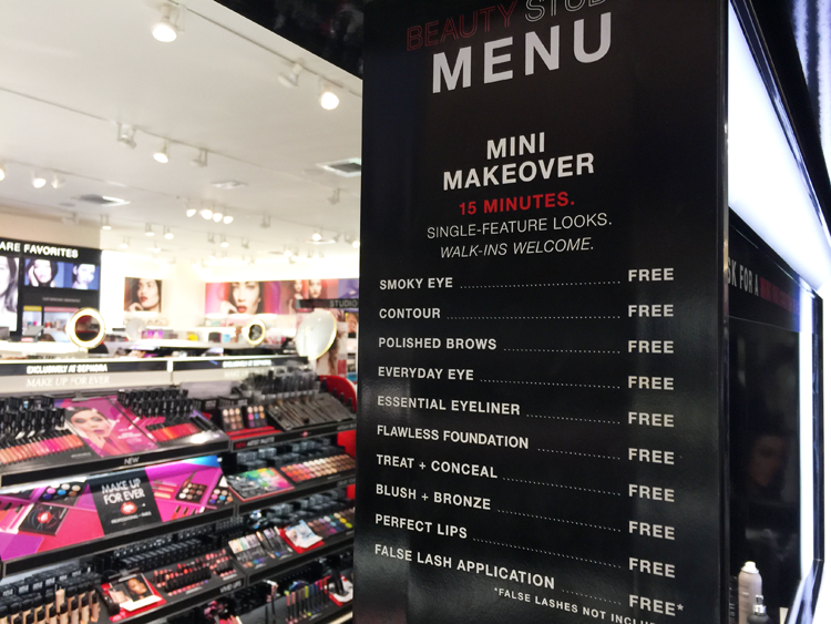 sephora mini makeover
