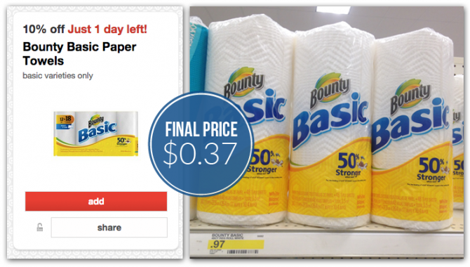Coupon Reset: Bounty Paper Towels, Only $0.37 at Target!