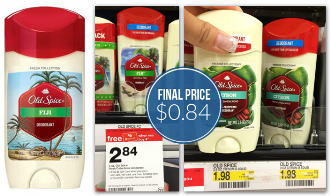 More Prints! Old Spice Deodorant, Only $0.84 at Target!