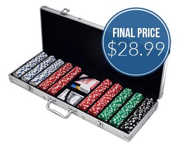Save $76 on Poker Chip Set + Free Store Pickup!