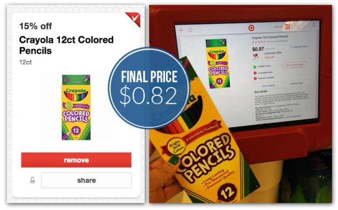 Crayola Colored Pencils and Markers, Only $0.82 at Target!