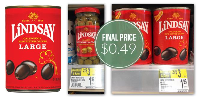 Lindsay Olives, Only $0.49 at Walgreens!