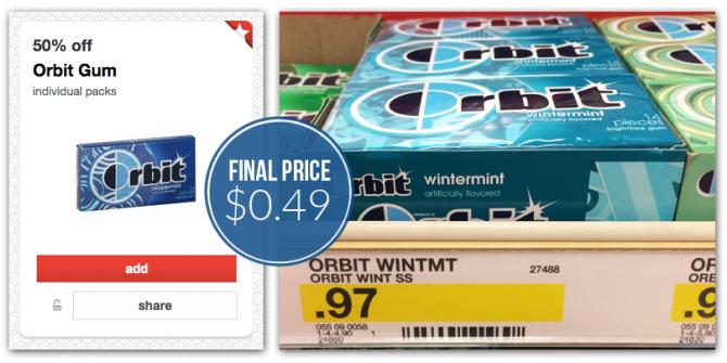 Orbit Gum Packs, Only $0.49 at Target!