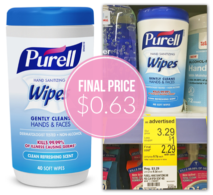 Purell Hand Wipes, $0.63 at Walgreens–Tomorrow Only!