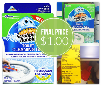 Scrubbing Bubbles Toilet Gels, Only $1.00 at Walgreens!
