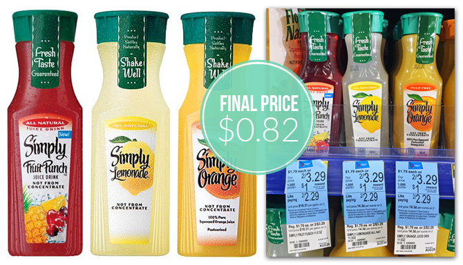 Simply Lemonade, Only $0.82 at Walgreens–Tomorrow Only!