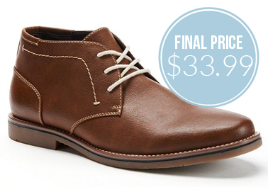 Sonoma Men's Chukka Boots, as Low as $33.99! - The Krazy Coupon Lady