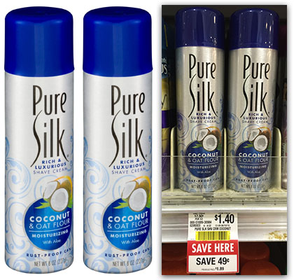 Pure silk shaving cream printable coupon 2018