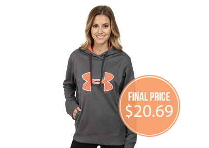 HOT! Extra 10% Off at 6PM–Under Armour Hoodies, Under $21!