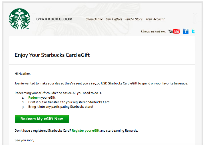 Free $5 Bonus WYB $10 Starbucks Coffee Gift Card! - The Krazy ...