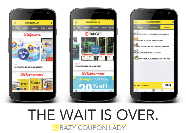 Krazy Coupon Lady Android App Is Live Now