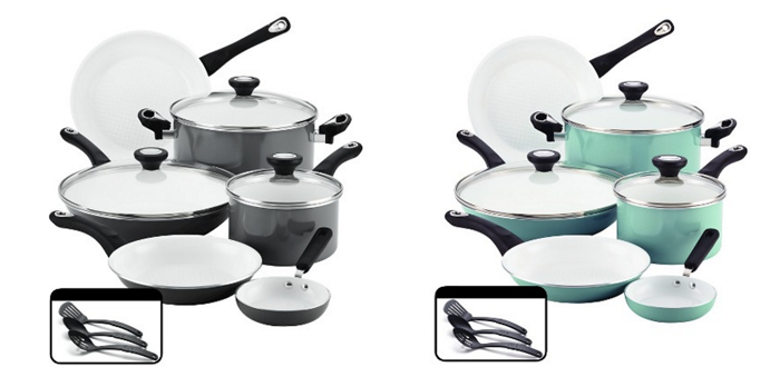 Farberware Ceramic Cookware Set, Only $67 Shipped! - The Krazy ...