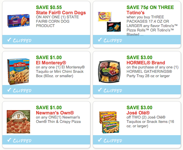Super Bowl Snack Coupons