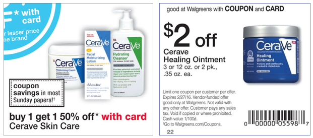 picture about Cerave Coupons Printable called Cerave Printable Coupon
