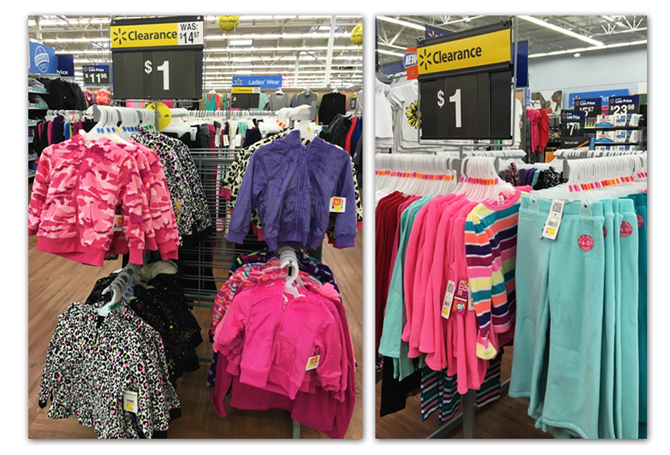 clothing clearance at walmart many items for 1 00