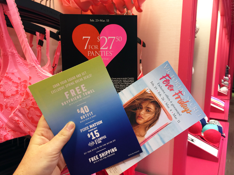 Victoria secret promotions in store