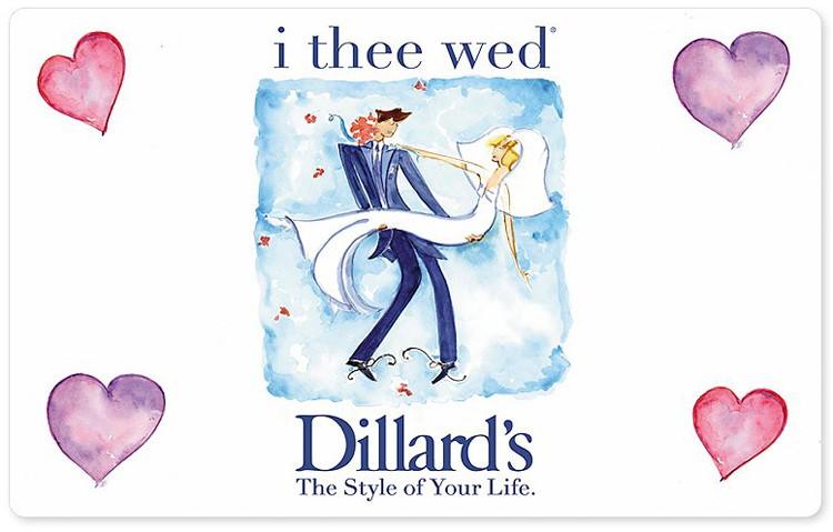 Dillards Wedding Registry